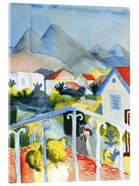 Akrylglastavla  Saint Germain near Tunis - August Macke