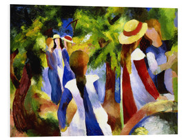 PVC-tavla  Girls under trees - August Macke