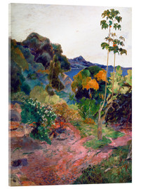 Akrylglastavla  Martinique Landscape - Paul Gauguin