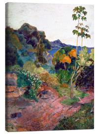 Canvastavla  Martinique Landscape - Paul Gauguin