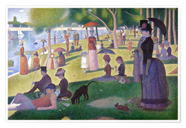 Poster  A sunday afternoon on the island of La Grande Jatte - Georges Seurat