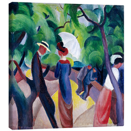 Canvastavla  Promenade - August Macke