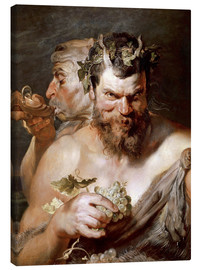 Canvastavla  Two Satyrs - Peter Paul Rubens