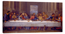 Canvastavla  The Last Supper, after Leonardo da Vinci - Nicolas Poussin