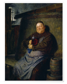 Premiumposter  Brother master brewer of beer in the cellar. In 1902. - Eduard Grützner