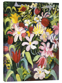 Canvastavla  Carpet of flowers - August Macke