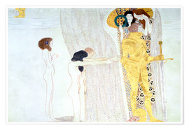 Premiumposter  Beethoven Frieze, desire for the luck - Gustav Klimt