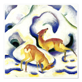 Premiumposter  Deer in the snow - Franz Marc