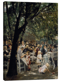 Canvastavla  Munich beer garden - Max Liebermann