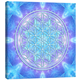 Canvastavla  Flower of Life - Dolphin Awareness - Dolphins DreamDesign