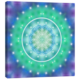 Canvastavla  Flower of Life - Relaxation - Dolphins DreamDesign