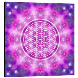 Aluminiumtavla  Flower of Life - Love Essence - Dolphins DreamDesign