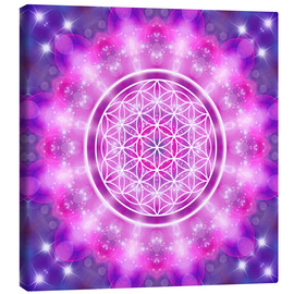 Canvastavla  Flower of Life - Love Essence - Dolphins DreamDesign