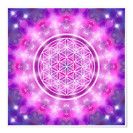 Premiumposter Flower of Life - Love Essence