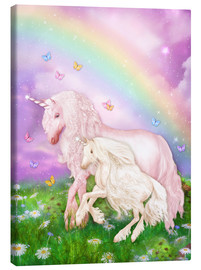 Canvastavla  Unicorn rainbow magic - Dolphins DreamDesign