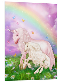 PVC-tavla  Unicorn rainbow magic - Dolphins DreamDesign