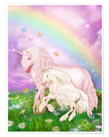 Premiumposter  Unicorn rainbow magic - Dolphins DreamDesign
