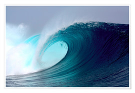 Premiumposter  Tropical blue surfing wave - Paul Kennedy