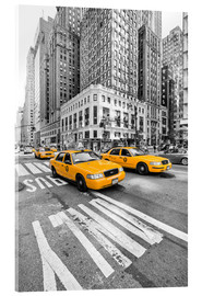 Akrylglastavla  Yellow Taxi / Cab, New York - Marcus Klepper