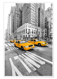 Premiumposter  Yellow Taxi / Cab, New York - Marcus Klepper