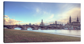 Canvastavla  Dresden, as viewed by Canaletto earlier - Steffen Gierok