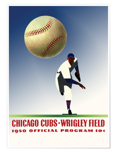 Premiumposter chicago cubs 1950