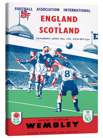 Canvastavla  england vs scotland 1953 - Sporting Frames