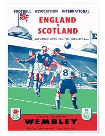Premiumposter england vs scotland 1953