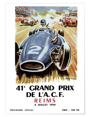 Premiumposter grand prix reims