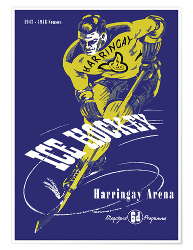 Premiumposter harringay ice hockey