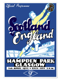 Premiumposter scotland vs england 1952