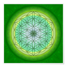Premiumposter Flower of Life 3