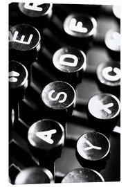 Canvastavla  Typewriter keys - Falko Follert