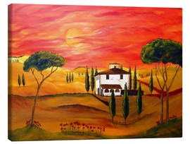 Canvastavla  Warmth of Tuscany - Christine Huwer