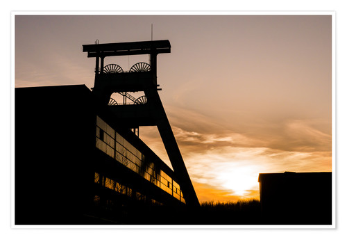 Premiumposter Colliery in Sunset
