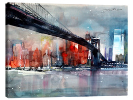 Canvastavla  New York, Brooklyn Bridge IV - Johann Pickl