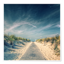 Premiumposter  Way to the beach - Thomas Deter