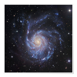 Premiumposter M101, The Pinwheel Galaxy in Ursa Major