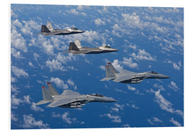 PVC-tavla  Two F-15 Eagles and F-22 - HIGH-G Productions