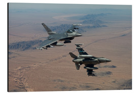 Aluminiumtavla  Two F16 on a training mission - HIGH-G Productions