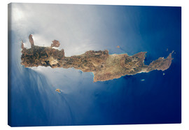 Canvastavla  View from space of the island of Crete
