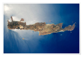 Premiumposter View from space of the island of Crete