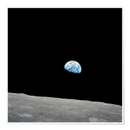 Poster  Earth from the Moon - Stocktrek Images