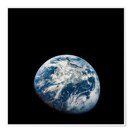 Premiumposter  Earth from the viewpoint of Apollo 8