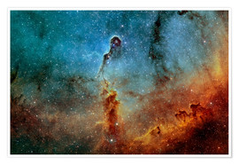 Premiumposter  The Elephant Trunk Nebula - Rolf Geissinger