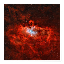 Premiumposter The Eagle Nebula in the constellation Serpens