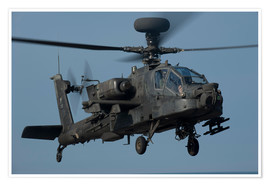 Premiumposter  A U.S. Army AH-64 Apache helicopter.