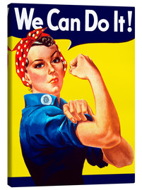 Canvastavla  Rosie The Riveter vintage war poster from World War Two - John Parrot