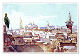 Premiumposter  A View of Damascus - Charles Pierron