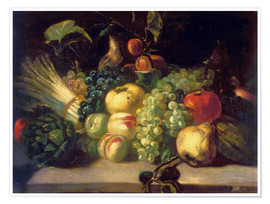 Premiumposter  Still life with fruits and vegetables - Theodore Gericault